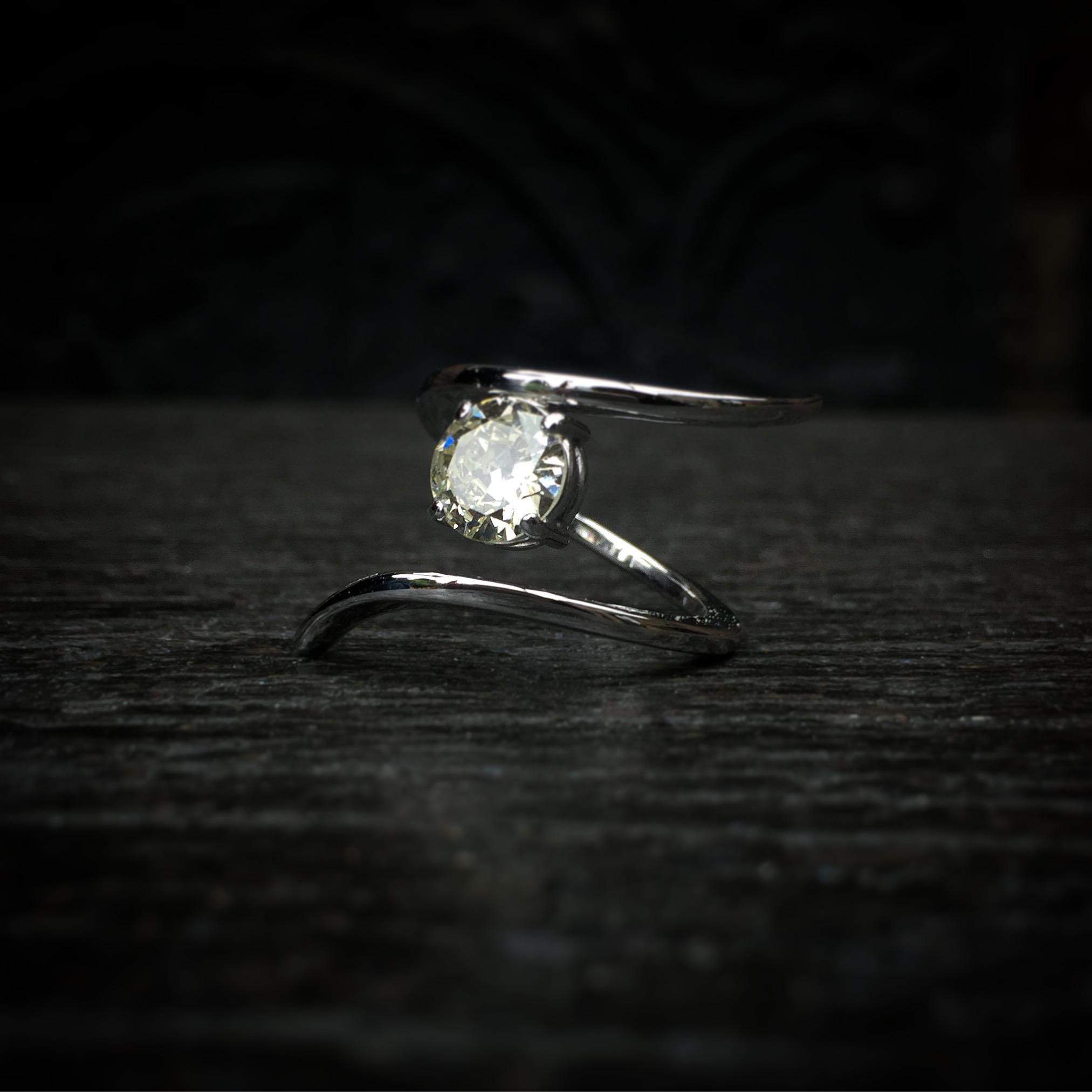 Bague Ruban Diamant 1,5ct