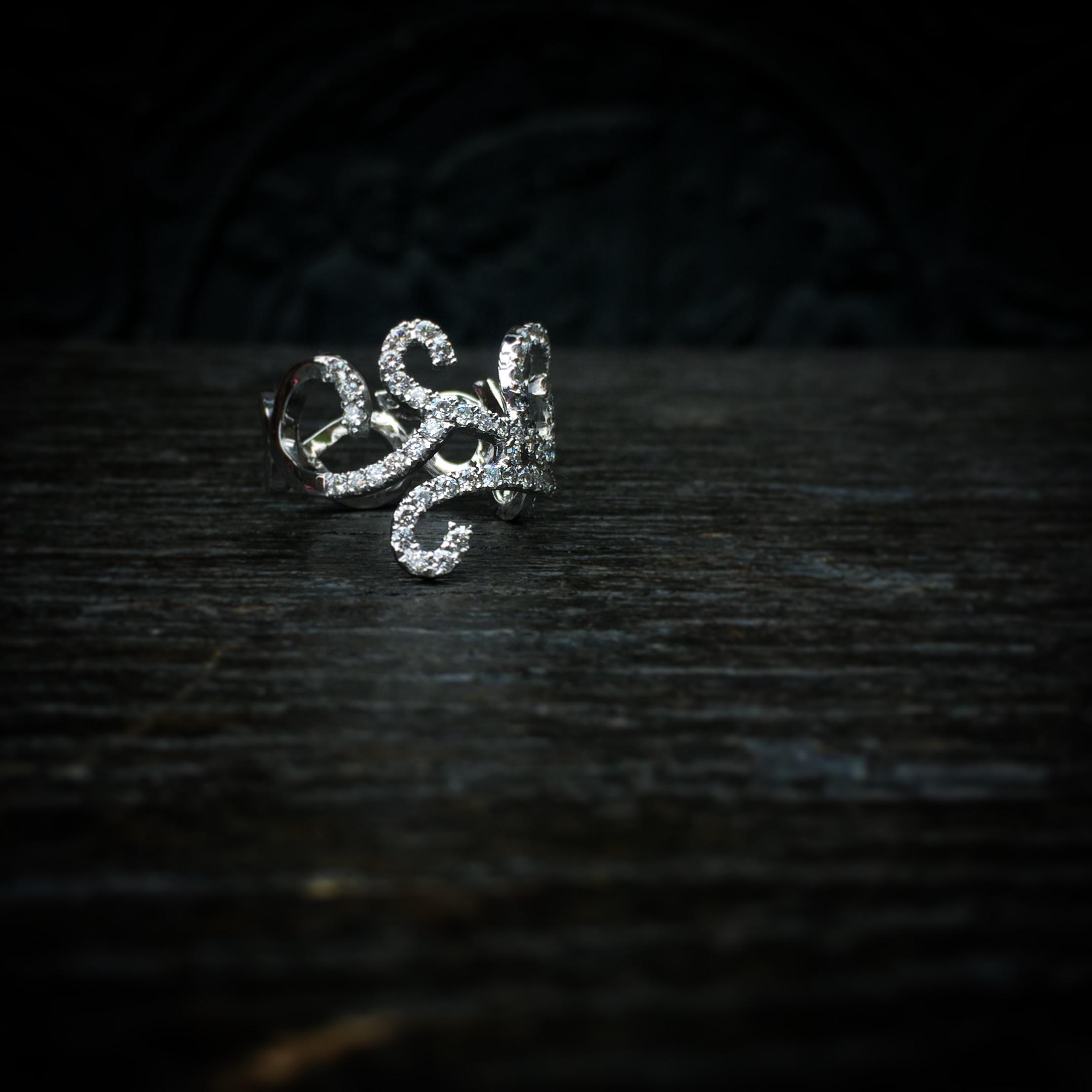 Bague Volutes Diamants Arthabilis