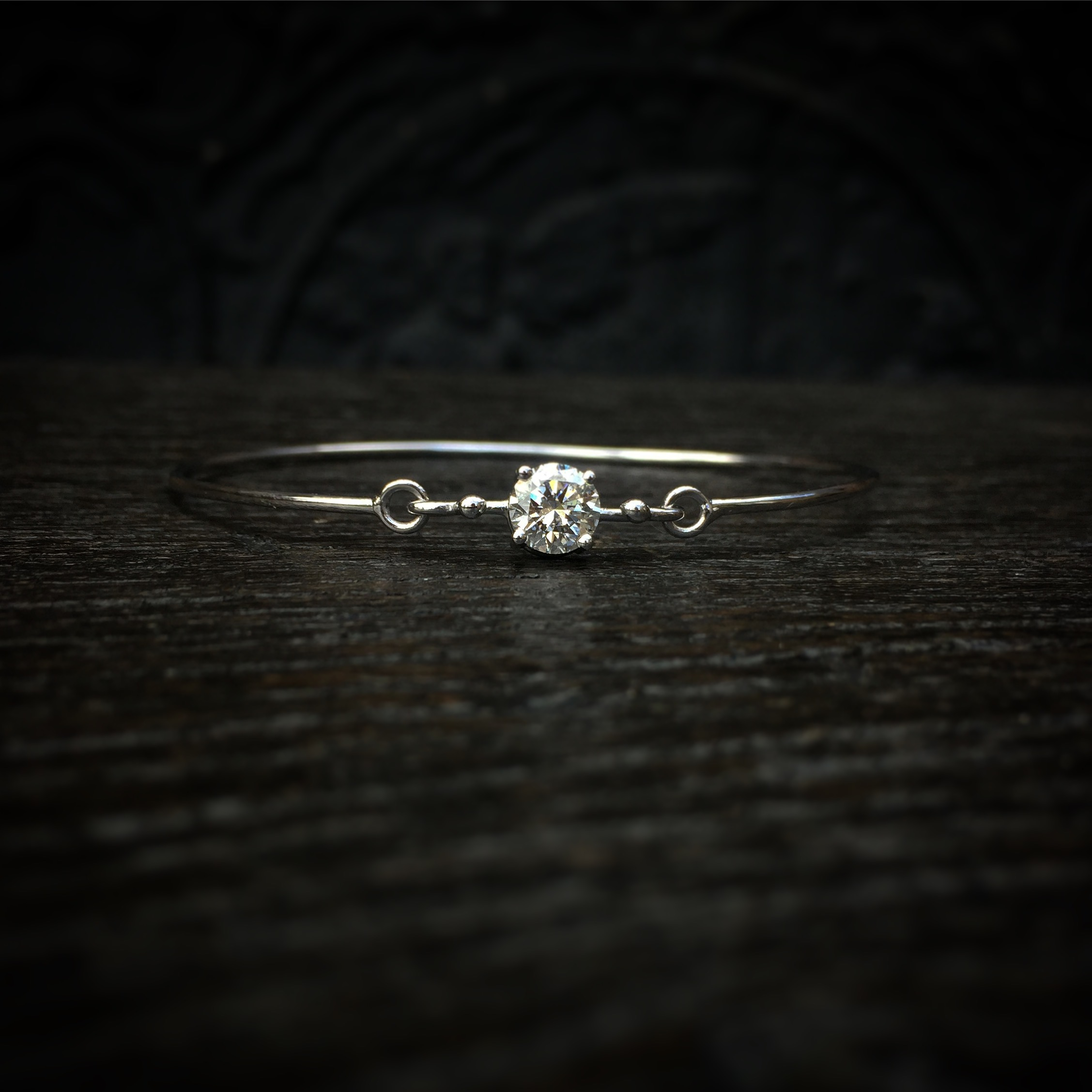 Bracelet Modulable Diamant Or Blanc
